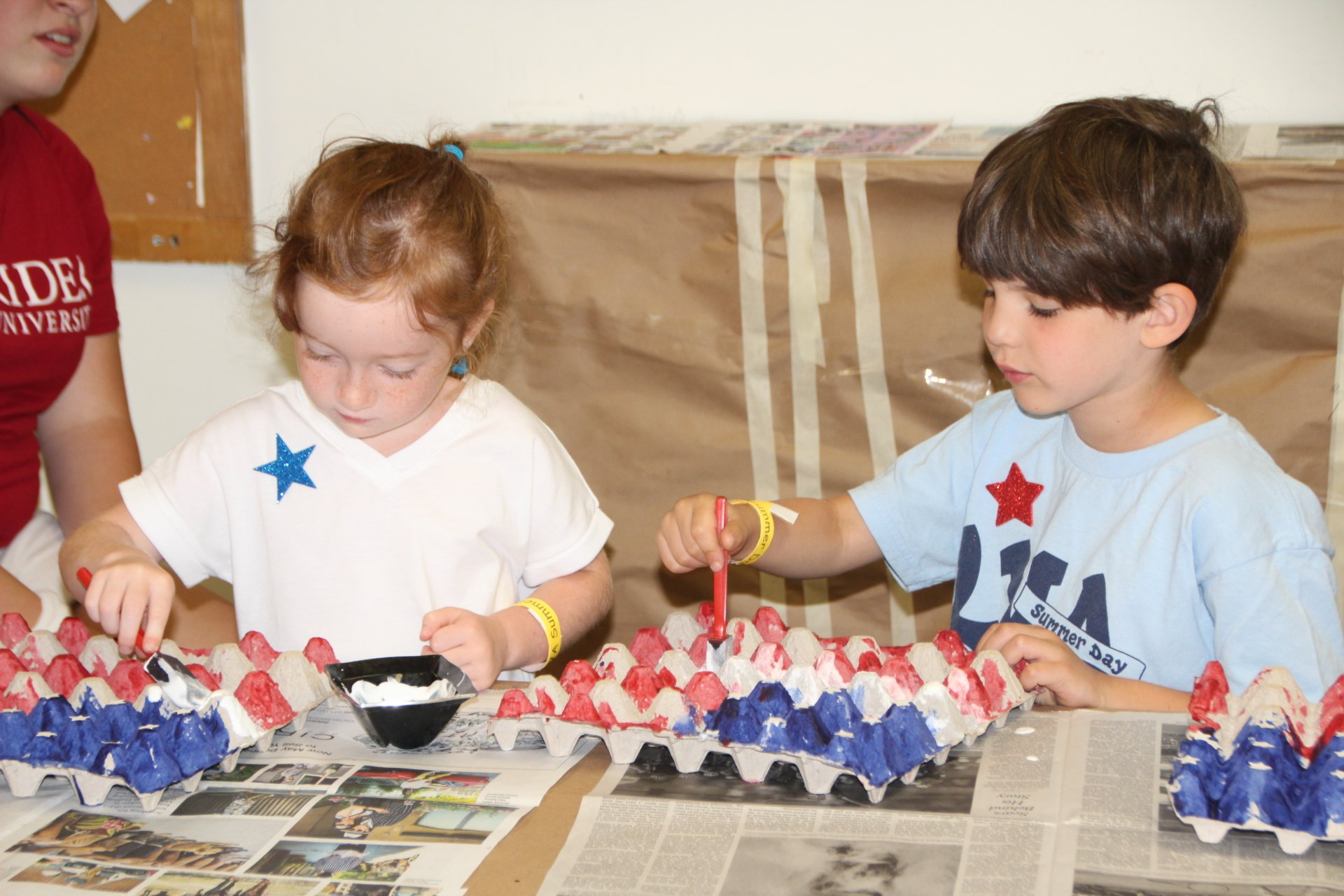 7 5 Nursery Red White and Blue Day